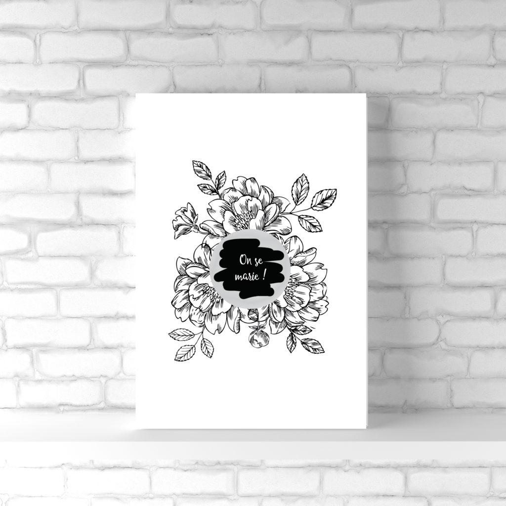 carte à gratter on se marie annonce mariage tatouage